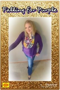 purple fall fashion scarves