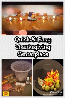 Thanksgiving décor craft centerpiece holiday