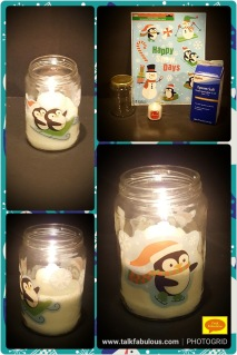 Winter crafts window clings snow candles holidays