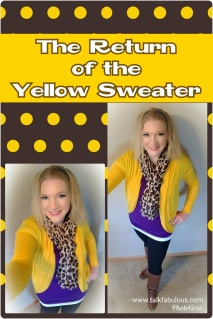 Yellow sweater winter style everyday outfit