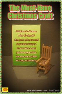 Christmas crafts poem memories