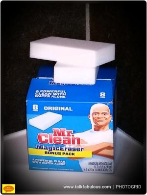 Cleaning magic eraser shower doors