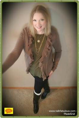 Neutrals leggings olive cardigan
