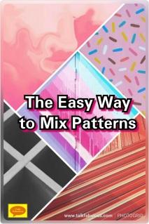 Mixing prints scarves stripes women's fashion