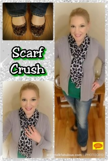Scarf kelly green animal print ballet flats winter fashion