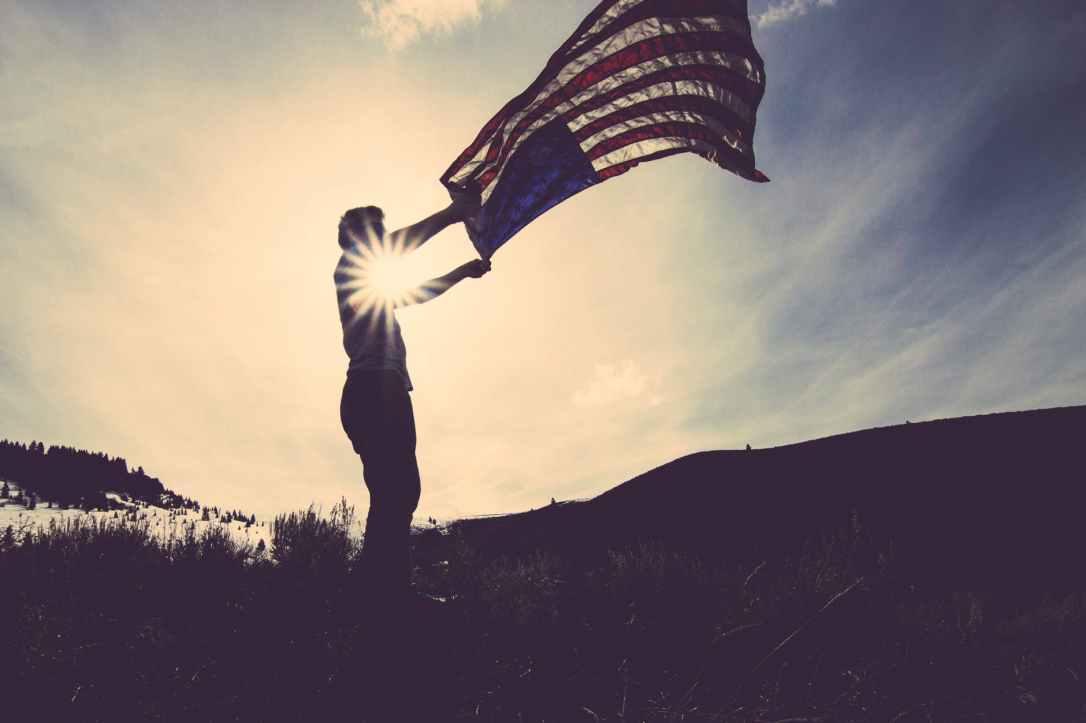 flag america patriotic veteran